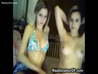 Good looking teen sisters in girl on girl incest video